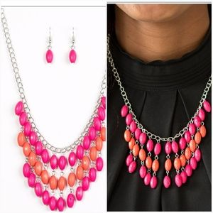 DELHI DIVA PINK NECKLACE/EARRING SET